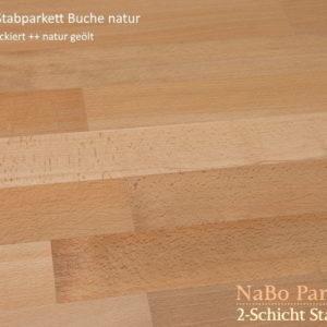 2-Schicht Stabparkett Buche natur - geschliffen, natur geölt - NaBo Parkett Leipzig