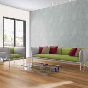 NaBo Parkett 2-Schicht Maxi XL Fertigparkett Eiche Projekt - geschliffen lackiert - Anwendungsbeispiel Wohnzimmer