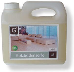 Parkett Holzbodenseife weiß - NaBo Parkett Zubehör - zur Reinigung und Unterhaltspflege weiß geölter Holzböden sowie Grundbehandlung von Weichhölzern