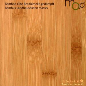 Bambus Landhausdielen massiv Breitlamelle gedämpft – Moso Elite - geschliffen lackiert - NaBo Parkett Bambusboden Leipzig