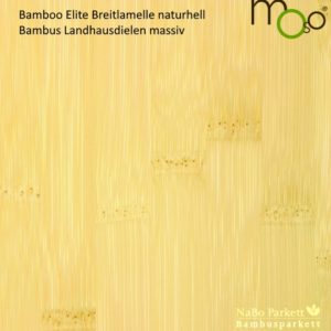 Bambus Landhausdielen massiv Breitlamelle naturhell – Moso Elite - geschliffen lackiert - NaBo Parkett Bambusboden Leipzig