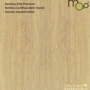 Bamboo Elite Premium Density naturhell White – Moso Bambus Landhausdielen - geschliffen, lackiert mit Klick-System - NaBo Parkett Bambusboden Leipzig