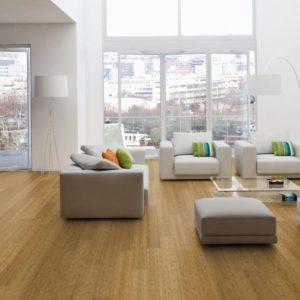 Moso Bamboo Elite - Bambus 3-Schicht Landhausdielen - Breitlamelle gedämpft - Wohn-Esszimmer, zeitgenössisch