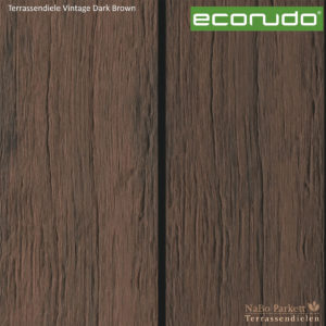 econudo Terrassendiele Dark Brown Vintage - Bamboo composites + 3D Textur - NaBo Parkett Terrassendielen Leipzig