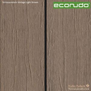 econudo Terrassendiele Light Brown Vintage - Bamboo composites + 3D Textur - NaBo Parkett Terrassendielen Leipzig