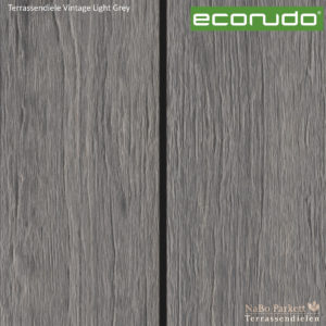 econudo Terrassendiele Light Grey Vintage - Bamboo composites + 3D Textur - NaBo Parkett Terrassendielen Leipzig