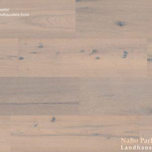 Eiche Antikdiele Capitol - NaBo Parkett Landhausdielen - gebürstet oder handgehobelt, gebürstet + weiß geölt