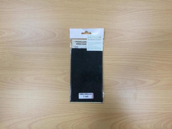 Filzgleiter rechteckig selbstklebend - schwarz zum Selbstzuschnitt 100x165mm - Möbelgleiter aus Nadelfilz by Naturboden & Türen Fründ Leipzig