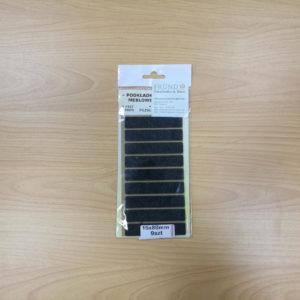 Filzgleiter rechteckig selbstklebend - schwarz 15x80mm - Möbelgleiter aus Nadelfilz by Naturboden & Türen Fründ Leipzig