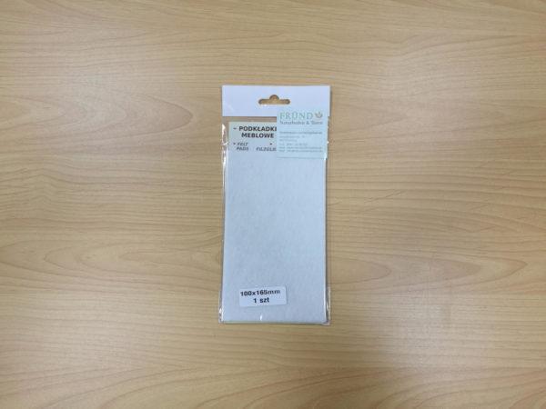 Filzgleiter rechteckig selbstklebend - weiß zum Selbstzuschnitt 100x165mm - Möbelgleiter aus Nadelfilz by Naturboden & Türen Fründ Leipzig