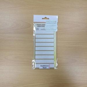 Filzgleiter rechteckig selbstklebend - weiß 15x80mm - Möbelgleiter aus Nadelfilz by Naturboden & Türen Fründ Leipzig