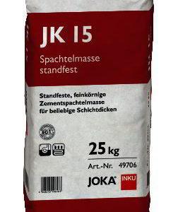JOKA Zementspachtel JK15 standfest - feinkörniger Reparaturmörtel und Zement Spachtelmasse für beliebige Schichtdicken - NaBo Parkett Zubehör Leipzig