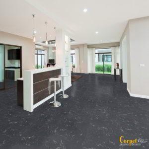 Korkboden NATURA DESIGN - Granit Porto Branco, Thermocor lackiert - NaBo Parkett Corkstone Leipzig - Esszimmer