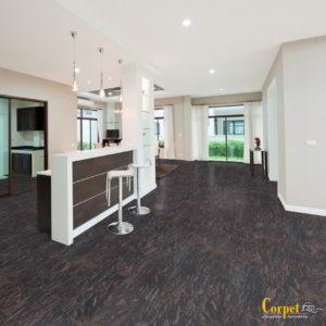 Korkboden NATURA DESIGN - Granit Tropical Black, Thermocor lackiert - NaBo Parkett Corkstone Leipzig - Esszimmer
