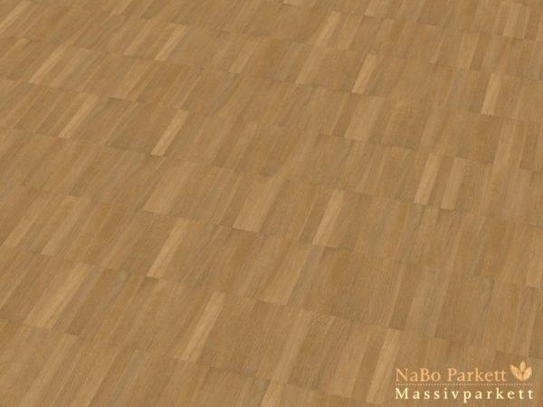 Mosaikparkett Eiche Sortierung Natur-Select - Parallel Verband - Massivparkett 8mm als Musterboden
