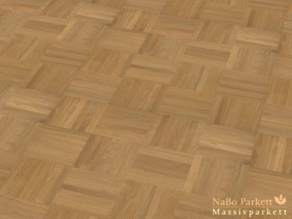 Mosaikparkett Eiche Sortierung Natur-Select - Würfel Verband - Massivparkett 8mm als Musterboden