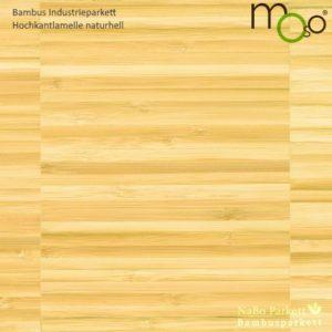 Bambus Industrieparkett Hochkantlamelle naturhell – Moso bamboo industriale - naturbelassen, roh - NaBo Parkett Bambusboden Leipzig