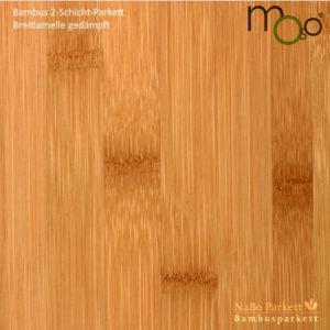 Bambus 2-Schicht-Parkett Breitlamelle gedämpft – Moso bamboosupreme - roh, lackiert oder vorgeölt - NaBo Parkett Bambusboden Leipzig