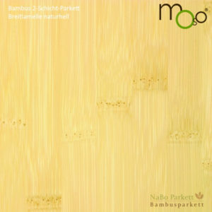 Bambus 2-Schicht-Parkett Breitlamelle naturhell – Moso bamboosupreme - lackiert oder vorgeölt - NaBo Parkett Bambusboden Leipzig