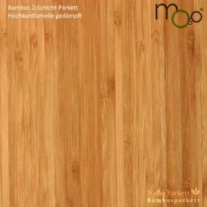 Bambusparkett 2-Schicht Hochkantlamelle gedämpft – Moso bamboosupreme - lackiert oder vorgeölt - NaBo Parkett Bambusboden Leipzig