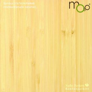 Bambusparkett 2-Schicht Hochkantlamelle naturhell – Moso bamboosupreme - lackiert oder vorgeölt - NaBo Parkett Bambusboden Leipzig