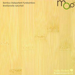 Bambus Stabparkett Breitlamelle naturhell – Moso purebamboo - geschliffen, lackiert - NaBo Parkett Bambusboden Leipzig