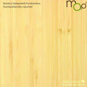 Bambus Stabparkett Hochkantlamelle naturhell – Moso purebamboo - geschliffen, lackiert - NaBo Parkett Bambusboden Leipzig