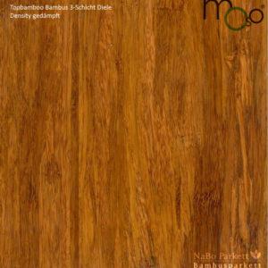 Bambus 3-Schicht Klick Fertigparkett Density gedämpft – Moso topbamboo - lackiert - NaBo Parkett Bambusboden Leipzig