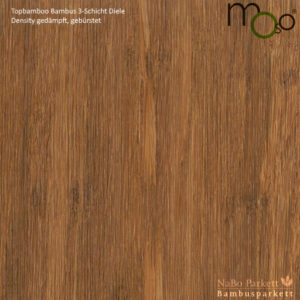 Bambus 3-Schicht Klick Fertigparkett Density gedämpft – Moso topbamboo - gebürstet, lackiert - NaBo Parkett Bambusboden Leipzig
