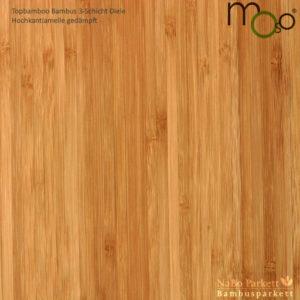 Bambus 3-Schicht Klick Fertigparkett Hochkantlamelle gedämpft – Moso topbamboo - geschliffen, lackiert - NaBo Parkett Bambusboden Leipzig