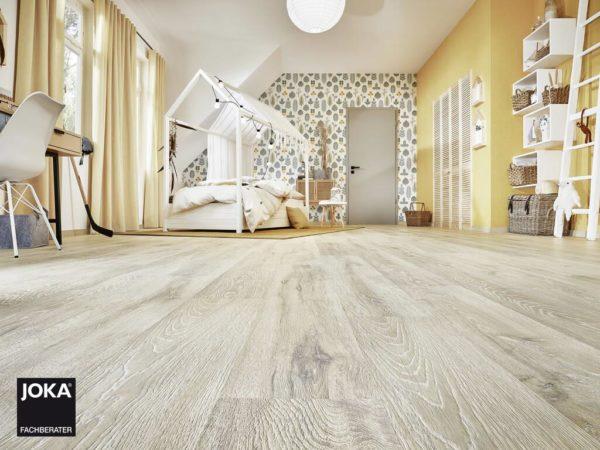 JOKA Laminatboden Metropol - 1-Stab Landhausdielen Design Oak stonewashed - Ambiente
