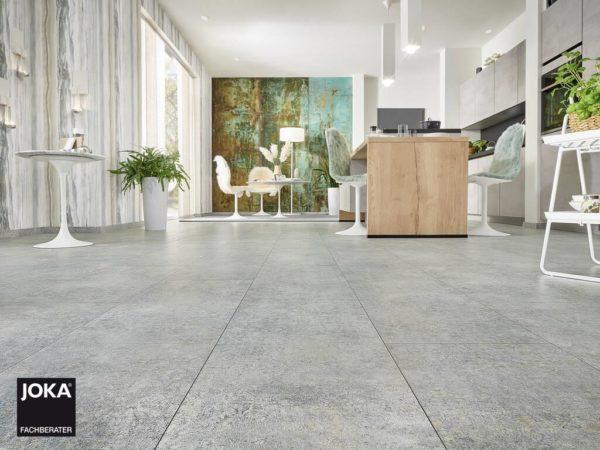 JOKA Laminatboden Skyline - Linen grey 5800 - Fliesendiele mit V5 Fase - Ambiente