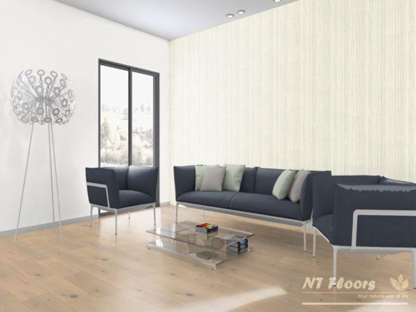 NT Floors Landhausdiele Eiche Country weiß - gebürstet, weiß natur endgeölt - Ambiente