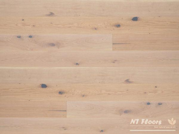 NT Floors Landhausdiele Eiche Country weiß - XL-Format - gebürstet, leicht weiß natur endgeölt