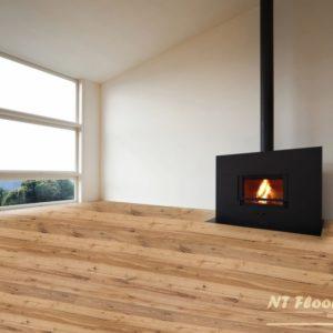 NT Floors Landhausdiele Eiche ROFEN Country - gebürstet oder handgehobelt, leicht gebürstet - farblos natur endgeölt - Ambiente