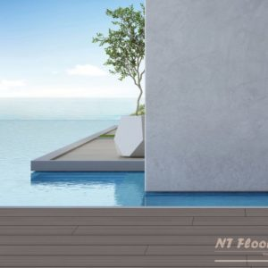 NT Floors WPC Terrassendielen - hellgrau genutet