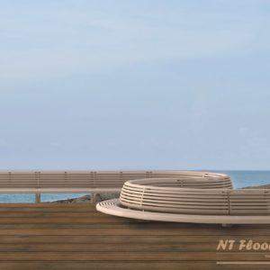 NT Floors WPC Terrassendiele Thermoeiche massiv - gebürstet - Ambiente