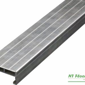 Aluminium Unterkonstruktruktion für Holzterrassen - 24 x 58 x 4000mm - pressblank mit Spezialschraubnuten