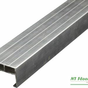 Aluminium Unterkonstruktruktion für Holzterrassen - 38 x 58 x 4000mm - pressblank mit Spezialschraubnuten