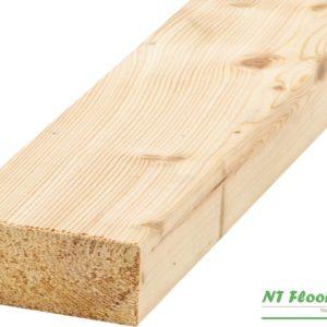 Holz Unterkonstruktion Lärche sibirisch us hobelfallend für Holzterrassen - 45 x 70 x 3000-6000mm - 4-seitig glatt gehobelt