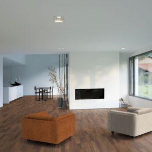 2-Schicht Parkett Nussbaum amerikanisch Select-Natur - 11x70x490mm ++ Ambiente, Wohnzimmer - NaBo Parkett Leipzig