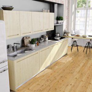 Massivholzdiele Lärche AB-Sortierung - geschliffen, natur geölt - NaBo Parkett - Küche