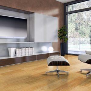 Pitch Pine Massivholzdiele Eleganz-Natur Sortierung - geschliffen, natur geölt - NaBo Parkett - Wohnbeispiel 2 Wohnzimmer